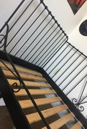 Twin Black metal Bed frame for Sale in Mesa, AZ