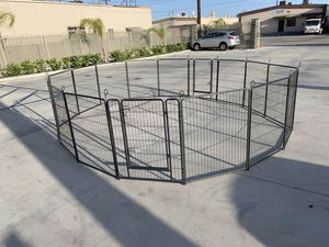 New in box 40 inch tall x 32 inches wide each panel x 16 panels exercise playpen fence safety gate dog cage crate kennel perrera cerca for Sale in Los Angeles, CA