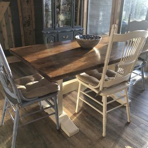 "Farmhouse dining Table, Chair & Bench 58"" for Sale in Mulino, OR"