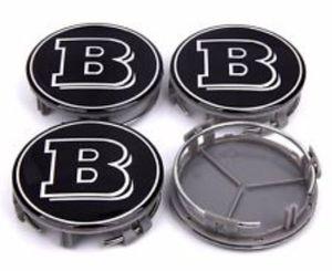 Mercedes Brabus black wheel rim center caps 75mm fit 85-19 Mercedes for Sale in Las Vegas, NV