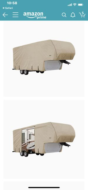 Goldline Premium Long Life RV Cover for 5th Wheel Motor Home Fits 42-44 Foot Tan for Sale in Queen Creek, AZ