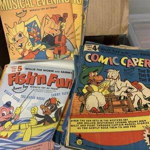 Huge Lot of Tippy Toy 1940's Comic Books! 3D Scenes for Sale in Los Angeles, CA