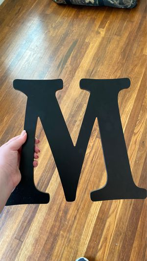 """M"" wall decor for Sale in Longview, TX"
