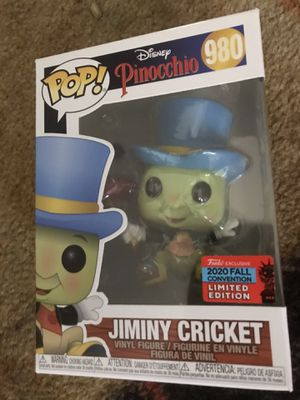 Funko pop convention exclusive Disney Pinocchio jiminy cricket for Sale in Portland, OR