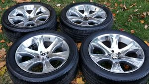 4 20 in 5x114.3 chrome wheels rims tires for Sale in Rockville, MD
