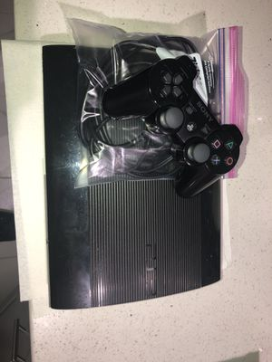PS3 slim with controller and cables for Sale in Queens, NY