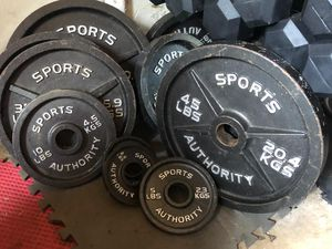 SPORTS AUTHORITY FULL OLYMPIC SET OF PLATES :PAIRS OF 45s. 35s. 25s. 10s. 5s for Sale in Coconut Creek, FL