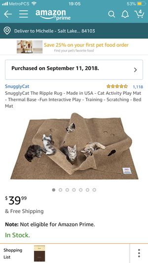 Cat toy ripple rug for Sale in Salt Lake City, UT