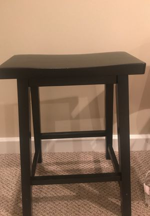 Set of 4 Black Wooden Saddle Stools for Sale in Chantilly, VA