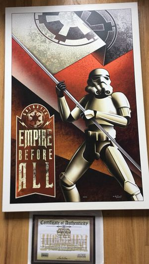 Star Wars Empire Before All Canvass Print Mike Kungl for Sale in Costa Mesa, CA