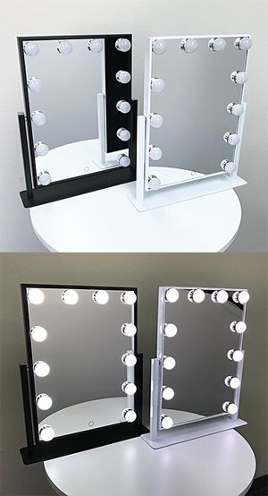 "New in box $70 each Vanity Mirror 12 Dimmable Light Bulbs Hollywood Beauty Makeup, 16""x12"" for Sale in Whittier, CA"