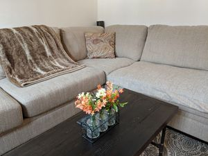 COMFORTABLE AND STYLISH Ashley Furniture Sectional Couch Like-New for Sale in Annapolis, MD