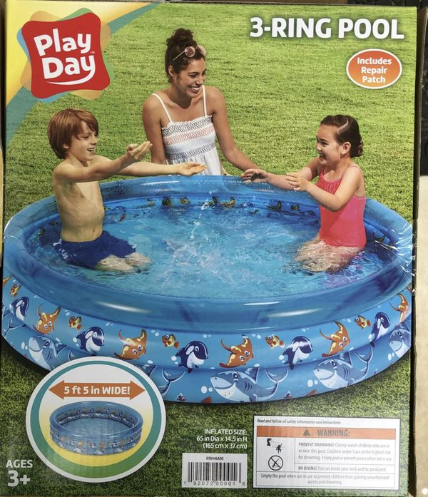 Play Day 3 Ring Pool! 5 ft wide! BRAND NEW!