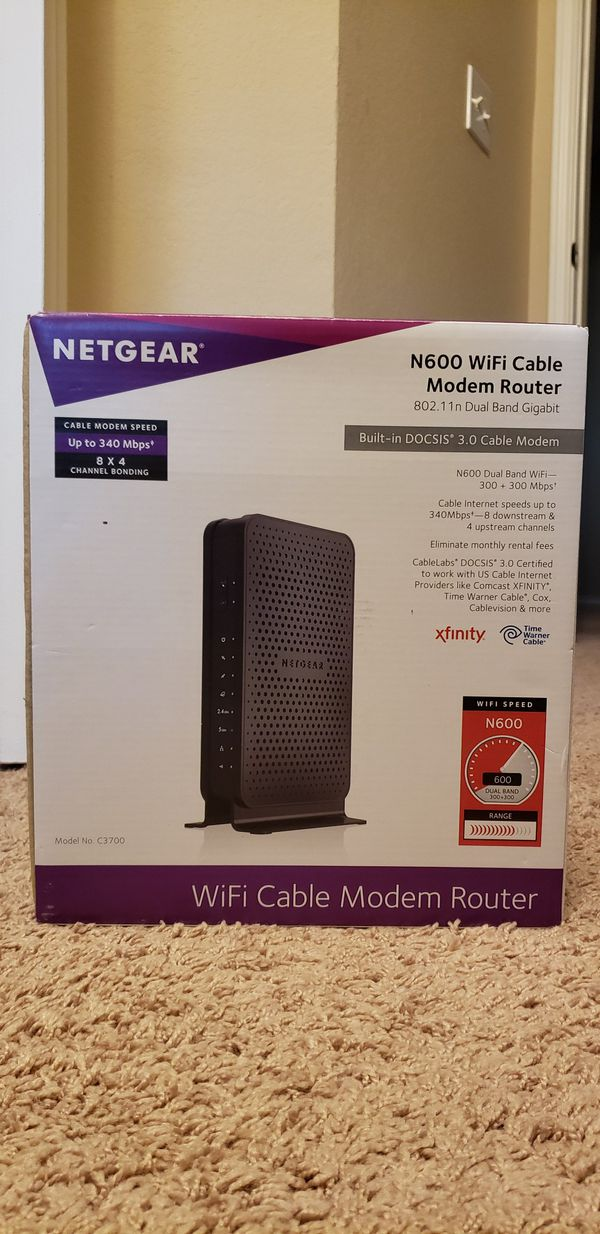 Net Gear WiFi router and WiFi modem/wifi router
