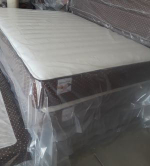 I have a full sz pillow top Mattress, very soft,has a factory warranty, new in plastic, from the factory.$185.00. for Sale in Riverside, CA