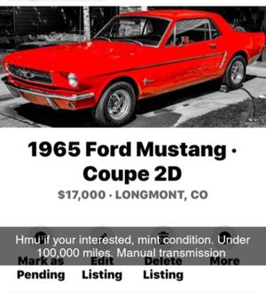 1965 Ford Mustang Coupe 2D for Sale in Denver, CO