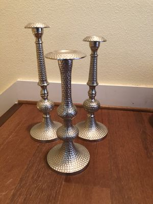 Candleholder set of 3 for Sale in Dallas, TX
