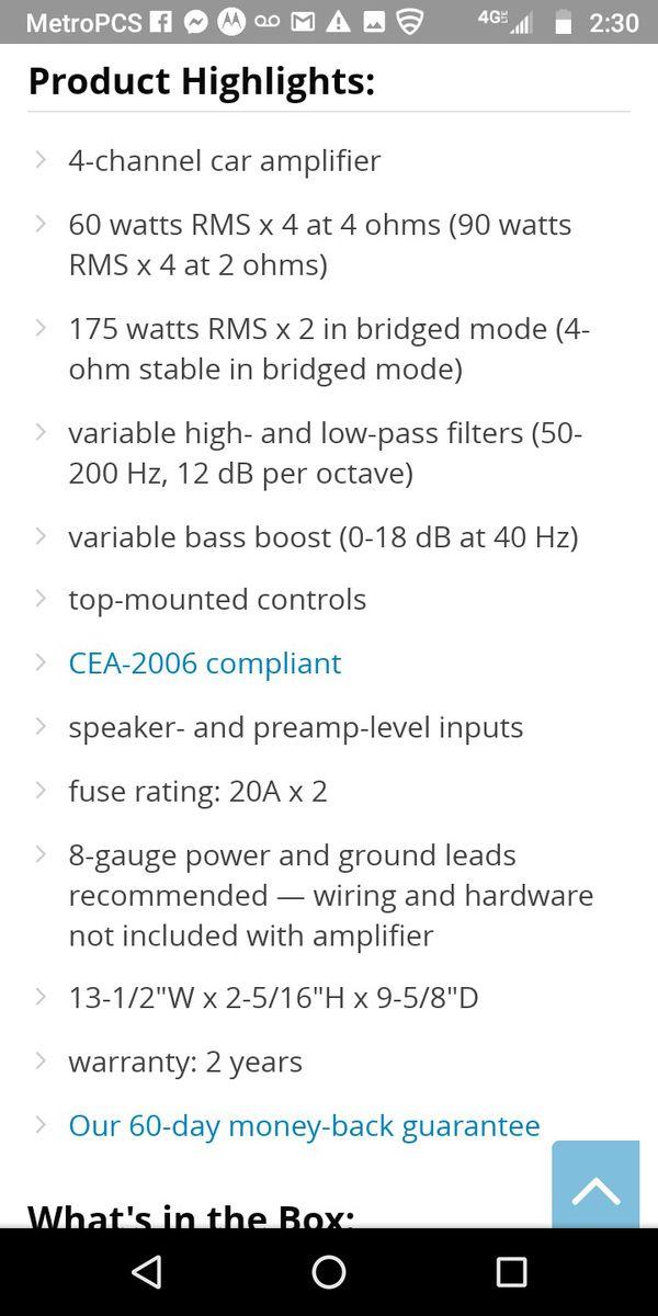 Kicker amp car audio