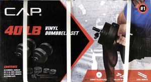 Cap 40lb vinyl dumbell set for Sale in Anaheim, CA