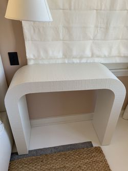 CB2 Lacquered linen Console Tables (1) for Sale in Los Angeles,  CA