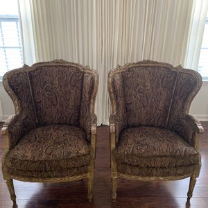 Antique Pair Of French Bergere Chairs for Sale in Moyock, NC