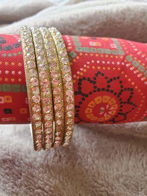Bangles set/bracelets. 4 pc for Sale in Peoria, IL