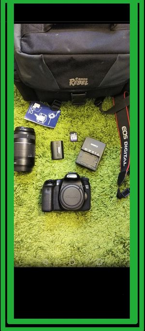 Canon eos 70d camera with accessories for Sale in Alhambra, CA