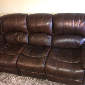 Leather Sofa Recliner for Sale in Brooklyn, NY
