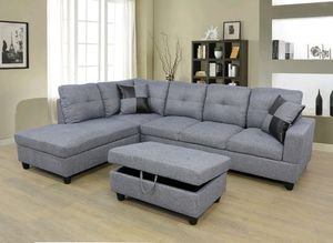 Sectional with storage Ottoman for Sale in Puyallup, WA