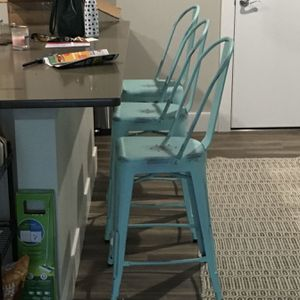 Target Distressed Teal Counter Height Stools for Sale in Chicago, IL