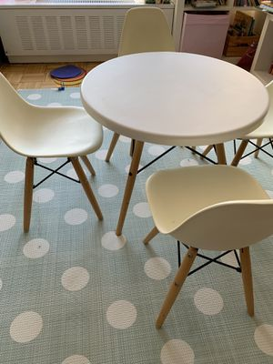 Table + 4 chairs kids eames style for Sale in New York, NY