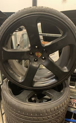 23 inch Porsche rims. 4 of them.. one set with tires on it. for Sale in Santa Monica, CA