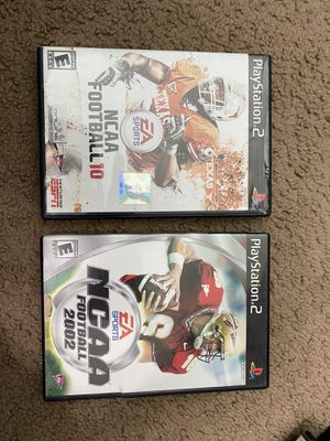 NCAA ps2 (Both tested and work) for Sale in Fresno, CA