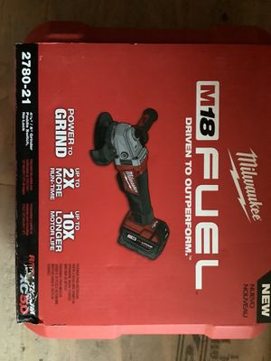 Milwaukee fuel 18v Kit grinder $270 for Sale in West Covina, CA