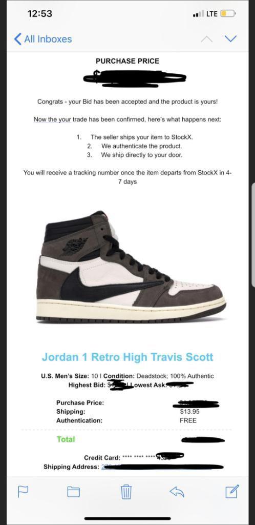 Travis Scott Air Jordan 1, Brand New