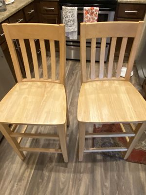 Wooden bar stools $65 for Sale in Federal Way, WA