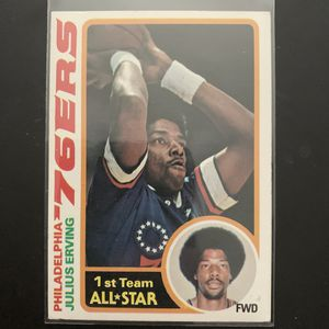 """Julius Erving """"Dr J"""" NBA 76ers Topps 1969 for Sale in Miami, FL"""