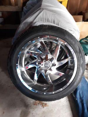 Brand New/Chevy Silverado 6 lug custom rims,tires for Sale in Torrington, CT