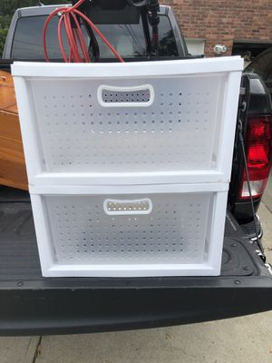 2 Drawer Plastic Storage for Sale in Glenshaw, PA