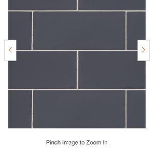 Dark Gray Glossy 3 in. x 6 in. Ceramic Wall Tile (10.75 sq. ft. / case) subway tile You Use In Any Project Kitchen Or Bathroom Walls Lake Backsplash for Sale in San Bernardino, CA