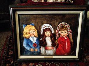 Antique dolls painting for Sale in Bullard, TX