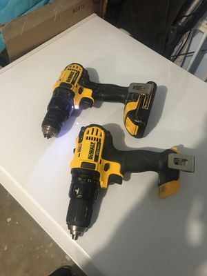 2 Dewalt drills 20v one Brand new and another one usde com with one battery for Sale in Nashville, TN