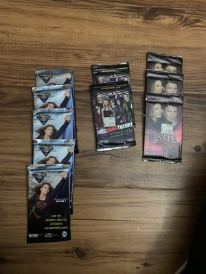 Super woman, castle, and the Big Bang theory collection cards 😆 for Sale in Upland, CA