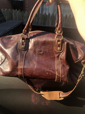 Brown Leather Weekender Duffle Bag for Sale in Nashville, TN