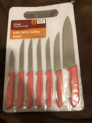 Knife and Cutting Board Set for Sale in Lakeside, AZ