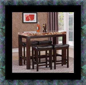 5pc Pub table with 4 stools for Sale in Hyattsville, MD