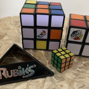 LOT Rubiks Cubes 3 Sizes Toy Kid Adult Game for Sale in Brooklyn, NY