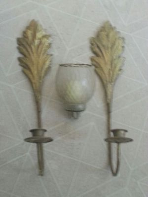 Pair of wall sconces / 2 globes for Sale in Fairfax, VA