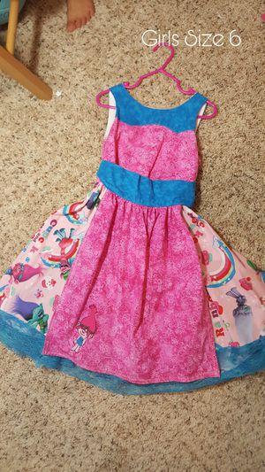Girls Size 6 Trolls Dress for Sale in Round Rock, TX