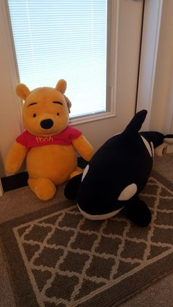 Stuffed Pooh and Whale for Sale in Gresham,  OR